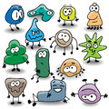Doodle viruses Stock Photography