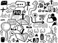 Doodle web elements Stock Photo
