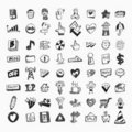 Doodle web icons Royalty Free Stock Photography