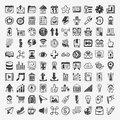 Doodle web icons cartoon vector illustration Royalty Free Stock Image