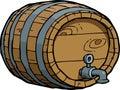 Doodle wine barrel