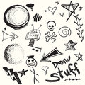 Doodles collection of and drawings in vector format with a variety of elements Royalty Free Stock Photography