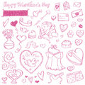 Doodles do Valentim Imagem de Stock Royalty Free