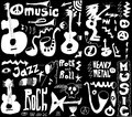 Doodles funny music background and texture Royalty Free Stock Photo