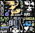 Doodles funny music background and texture Stock Photography