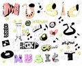 Doodles funny music background and texture hand drawn Royalty Free Stock Photos