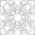 Doodles mandala seamless pattern