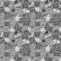 Doodles pattern Royalty Free Stock Photo