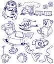 Doodles toys Royalty Free Stock Images