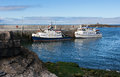 The Doolin Ferry boats in the West of Ireland taking tourists and locals from Doolin port to Aran island