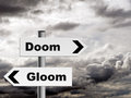 Doom and gloom pessimist outlook on life etc financial or general use gloomy Royalty Free Stock Photo