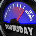 Doomsday Clock Gauge It's Here End of Days Time Royalty Free Stock Photo