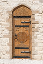 Door with Arabic script Royalty Free Stock Photo