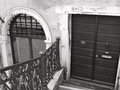 Door and arched window in venice found amongst the streets alleyways along the canals italy Royalty Free Stock Images