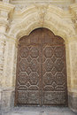Door of astorga cathedral leã n castile and leon spain Royalty Free Stock Images