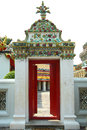 Door beautiful or vintage at thailand temple or thailand wat Stock Image