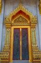 Door at Benjamabopit temple Royalty Free Stock Photo