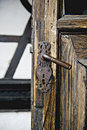 Door of Bran Castle Stock Photo