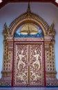 Door buddhist temple architecture Wat Phra Thad Doi Suthep Royalty Free Stock Photo
