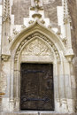 Door - castle in Romania Royalty Free Stock Photography
