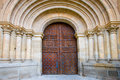 Door of the cathedral of Ciudad Rodrigo Stock Images