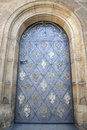 Door of cathedral in prague czech republic europe Stock Images