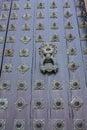 Door of Cathedral - Santiago de Compostela, Spain Stock Image
