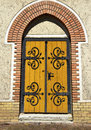 Door of the church ornate Royalty Free Stock Photos