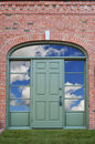 Door with clouds Royalty Free Stock Photo