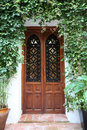 Door in cordoba spain of a typical house the old town of andalusia Royalty Free Stock Images
