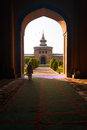 Door Courtyard Jama Masjid Mosque Srinagar Stock Image