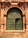 Door of Cusco Church Royalty Free Stock Photo