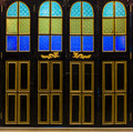 The door design bold color Royalty Free Stock Photography