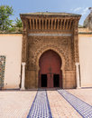 Door and entrance to mosque in meknes morocco large wooden doors archway as dar el makhzen palace located el mechouar stinia it Stock Images