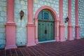 Door at the entrance to Old Mission Santa Barbara, in Santa Barb Royalty Free Stock Photo