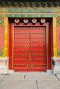 Door in The Forbidden City (Gu Gong) Royalty Free Stock Photo