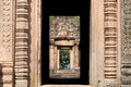 Door frame at Phanom Rung temple in Burirum Thailand Stock Images