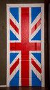 Door with great britain flag Royalty Free Stock Photo