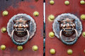 The door handle in ancient china Royalty Free Stock Images