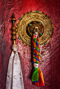 Door handle of Buddhist monastery Royalty Free Stock Photo