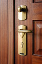 Door handle closeup Royalty Free Stock Image