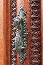 Door handle on old doors