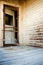 Door of haunted house Royalty Free Stock Photo