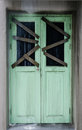 Door of haunted house Royalty Free Stock Photo