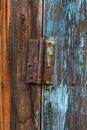 Door hinge retro old rusty Royalty Free Stock Photos