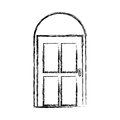 Door house style isolated icon