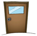 Door illustration of an isolated Royalty Free Stock Image