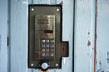 Door intercom system outdoor Royalty Free Stock Photo