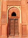 Door in Jahangiri Mahal, Agra Fort, Uttar Pradesh, India Royalty Free Stock Photo
