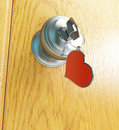 Door key heart Royalty Free Stock Images